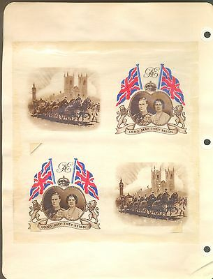 GB UK British Empire 1937 GVI Coronation COMPLETE COLLECTION + Special Old Pages
