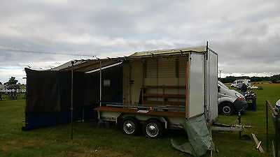 Twin Axle Box Trailer With Market Stall