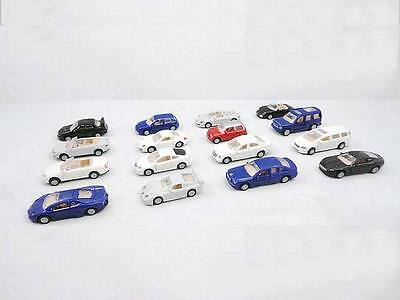 16pcs Assorted Exotic Model Kit Cars 1:87 HO/OO Scale Railway Unassembled