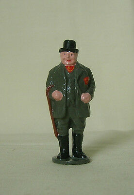 Gentleman Farmer in top hat, 54mm train layout figure, Reproduction Johillco