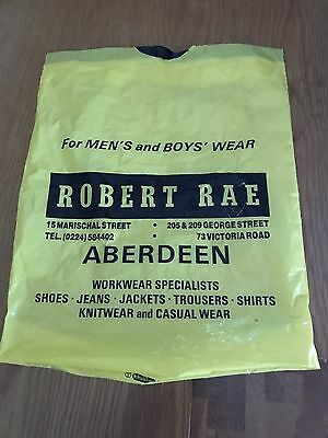 Nostalgic Robert Rae Carrier Bag From Aberdeen