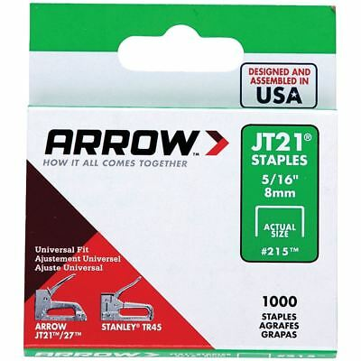 Arrow JT21 / T27 Staples Stapler 8mm 5/16 In Inches Box 1000
