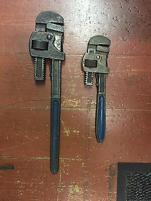 """2 X pairs """"Record"""" Stillson wrenches no.s 18 & 12 plumber"""