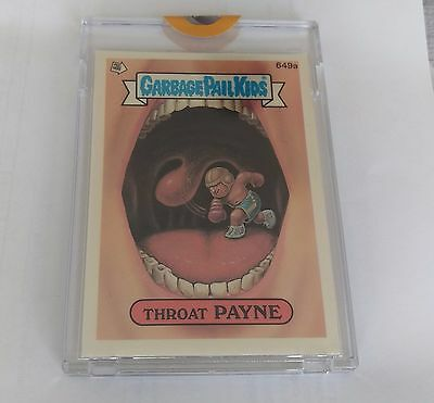 Garbage Pail Kids ~ Series 16 OS16 ~ 1989 Unpublished Proof 649a Topps Vault COA