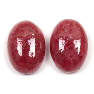 Unique 19.5 Cts Natural RHODONITE Gemstones Oval Cabochon 1 Pair 14x10 mm eBay