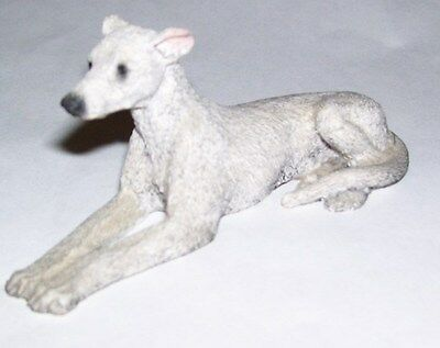 painted resin Greyhound / Whippet Dog miniature Living Stone figure