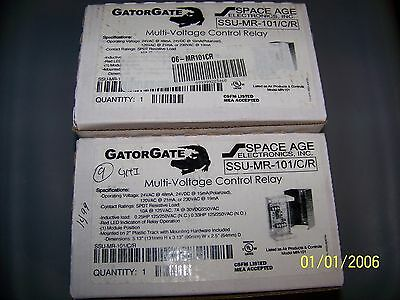 lot of 2 New Space Age Gator Gate Multi-Voltage Control Relay SSU-MR-101/C/R