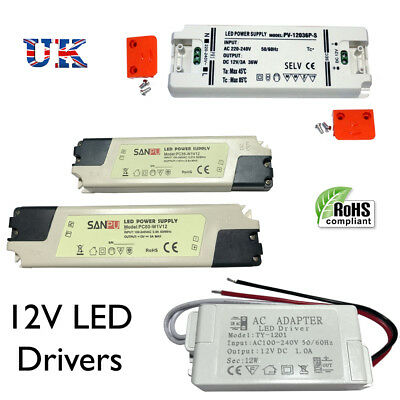DC12V  LED driver 7W-60W Transformer Driver LED Strips, MR16 CCTV & other 12V