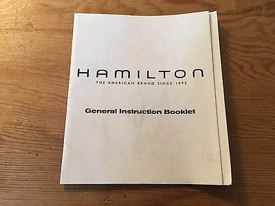 Used - General Instruction Booklet HAMILTON - Good condition