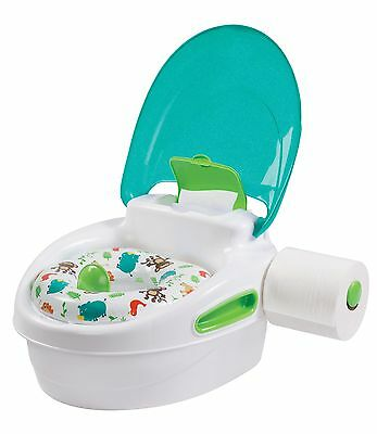 Toilet Pee Trainer Chair Training Seat Potty Baby Toddler Step Stool Kid Neutral