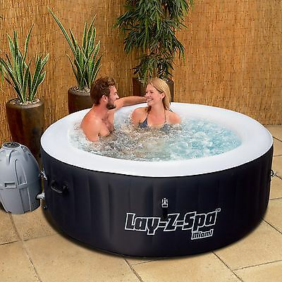 Bestway Miami Inflatable Lay Z Spa Portable Hot Tub Jacuzzi Massage Pool