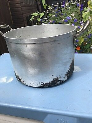 Large Vintage Catering Cooking Camping Curry School Kitchen Pot Pan Dish