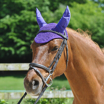Maxima Crochet Ear Bonnet/hood/ear Net/fly Veil - Pony/cob/full - Lycra Ears