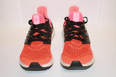 ADIDAS MENS RUNNING ULTRA BOOST TRAINERS -  Energy/ Core Black size UK 7.5
