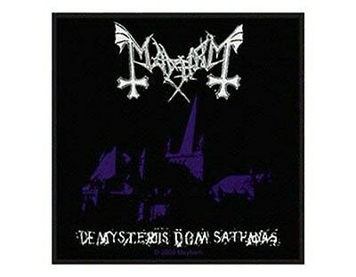 MAYHEM de mysteriis dom sathanas 2009 - WOVEN SEW ON PATCH - official