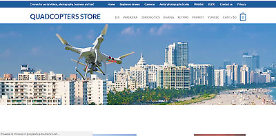 Established Profitable DRONES, Quadcopters & Aerial Photography Website For Sale