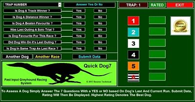 QUICK-DOG 7 A Fast Input Greyhound Racing System