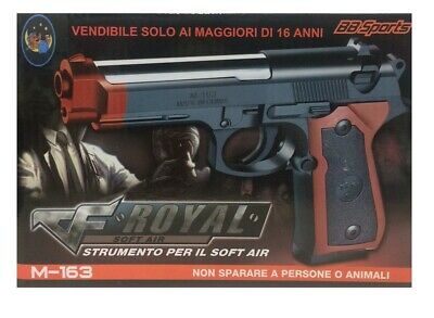 Pistola Giocattolo Spara Pallini mm 6 Air Soft Beretta Inspired Royal Collection