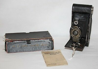 Kodak No 2A Folding Autographic Brownie - 1920 116 Film Folding Camera in Box