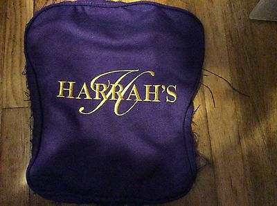 Harrah's Casino Embroidered Fabric From Chair Back