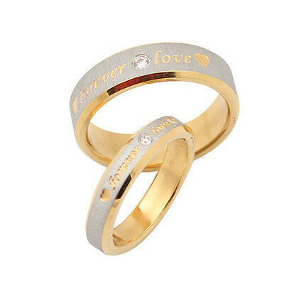 Personalized name ring engagement ring titanium promise couple rings gold custom