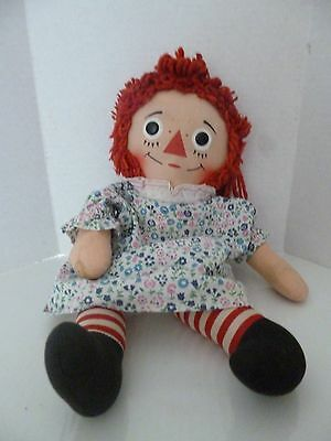 """Vintage Raggedy Ann Doll Mid Century 'I Love You Heart' 16"""" Retro Collectible"""