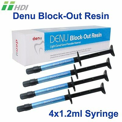 Dental Lab Denu Light Curing Block-Out Resin Blocking Out Undercut 4x 1.2ml