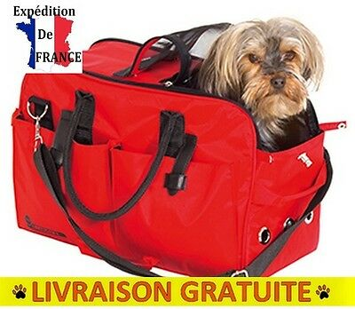 Sac De Transport Chien Chat No Limit Teflon Rouge 43X24 Cm