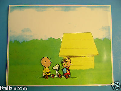 Hand Painted Handpainted Peanuts Snoopy Charlie Brown Animation Cel Cell Art