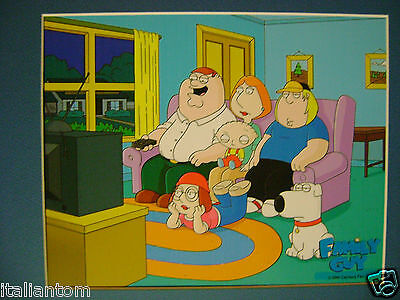 Matted Family Guy Family 20Th Century Fox Stewie Cel Animation Art Cell