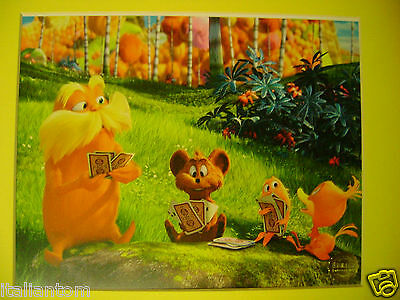 Matted Disney The Lorax Movie Dr Seuss Cel Animation Art Cell