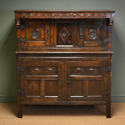 17th Century Country Oak Court Cupboard