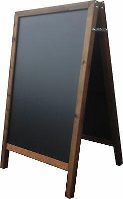 Extra Large Chalkboard A Board 650mm x 1100mm Wooden Frame Pavement Sign