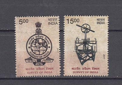 India 2017 MNH Survey of India Set of 2 Stamps