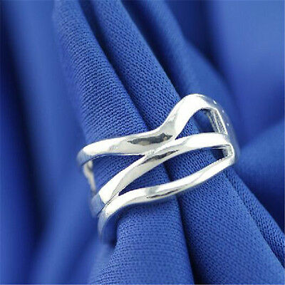 925 Solid Sterling Silver Plated Women/Men NEW Fashion Ring Gift SIZE OPEN HJ205