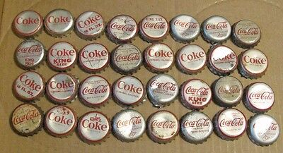 32 Vintage Cork Soda Bottle Caps Mixed Coke Coca Cola  Mixed  1-1930's Era