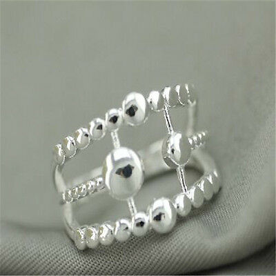 925 Solid Sterling Silver Plated Women/Men NEW Fashion Ring Gift SIZE OPEN HJ218