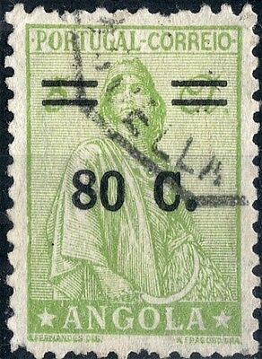 Angola.  1934.  Ceres locally surcharged.   SG376.  Used.