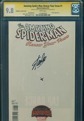AMAZING SPIDER-MAN RENEW YOUR VOWS CGC SS 9.8 STAN LEE SIGNED BLANK Marvel Comic