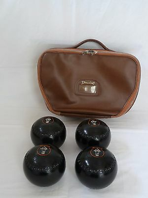 4 x Henselite Classic Deluxe Lawn Bowls and Carry Bag/Case - Size 1 Heavy