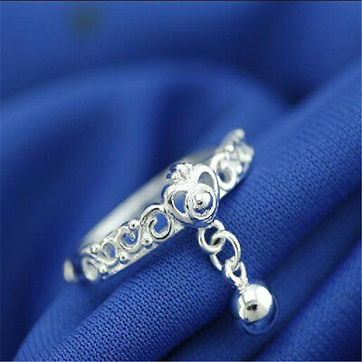 925 Solid Sterling Silver Plated Women/Men NEW Fashion Ring Gift SIZE OPEN HJ201