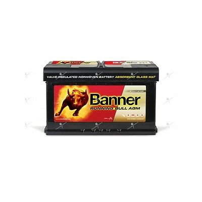 Batterie camping car AGM banner running bull 58001 12v 80ah 800A  décharge lente