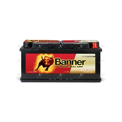 Batterie camping carAGM banner running bull 60501 12v 105ah 950A  décharge lente