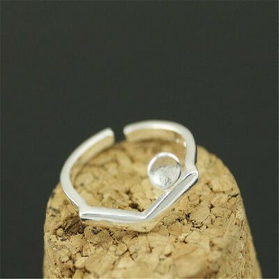 925 Solid Sterling Silver Plated Women/Men NEW Fashion Ring Gift SIZE OPEN HJ212