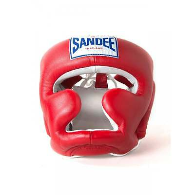Sandee Closed Face Head Guard - Red
