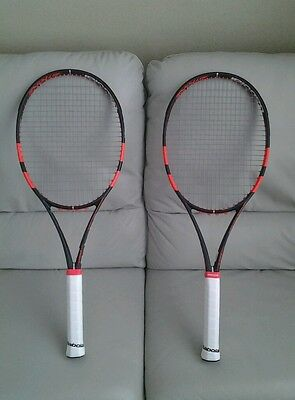 2 NEW babolat pure strike 98 16x19 4 3/8