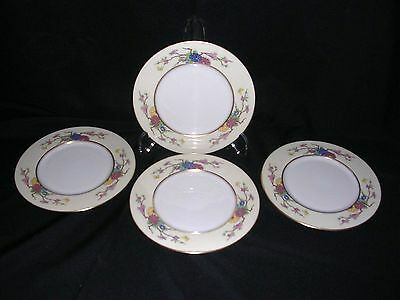 "SET of 4 SALAD PLATES...LENOX CHINA ""MANDARIN"" P-1 Pattern  (GOLD MARK)"