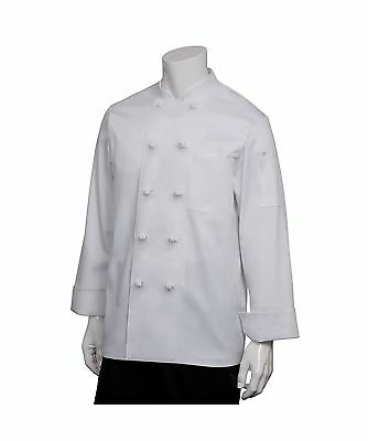 Chef Works Men's Bordeaux Chef Coat (PKWC) Medium