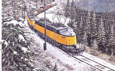 Milwaukee Road - Joes at Snowline - card - painting reproduction - Free Shipping
