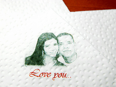 100 Personalized Printed Napkins Any Custom Image Any Colors